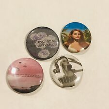 LANA DEL REY Set of Four Button Pins Summertime Sadness Pop Music Singer Retro