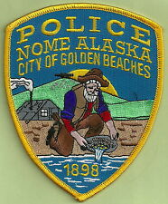 NOME ALASKA POLICE PATCH GOLD PANNER!