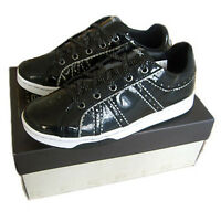 GEOX Tmania Schuhe Sneaker schwarz Gr. 34-39 NEU Leder Turnschuhe