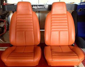 Mazda RX3 808  SEAT INTERIOR VINYL TRIM MATERIAL SEDAN WAGON  COUPE ORANGE