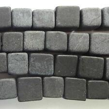 "16"" STRAND BLACK ONYX 4MM CUBE BEADS - E145"