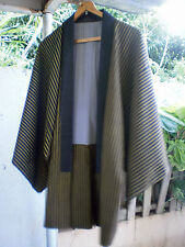 EXCELLENT KIMONO Handmade Well Stitched Gentlemen Robe Jacket Coat Suit Casual