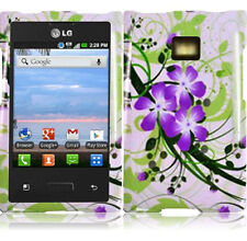 For LG Optimus Logic L35G Dynamic L38G Snap HARD Case Phone Cover Green Lily