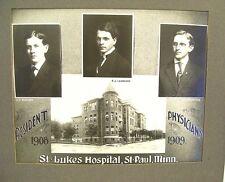 Cabinet Photo ~ Resident Physicians at St Lukes Hospital St Paul Minn   1908-09