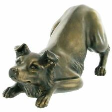 More details for border collie bronze effect dog sculpture figurine statue gift for dogs lovers