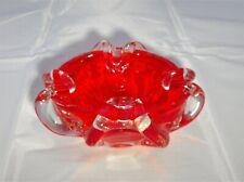 Lovely vintage piatto di vetro di Murano