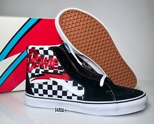 7466c779a2097c Vans SK8-Hi X David Bowie Checkerboard Black Whiteboard Red DB Size SK8 Hi  High