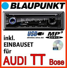 BLAUPUNKT AUDI TT 8N für BOSE - Amsterdam 130 CD MP3 USB AUTORADIO - EINBAUSET