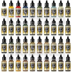 Vallejo Model Air War Paints Acrylic Airbrush Colours Full Set Spray 17ml Bottle