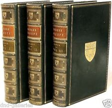 FYFFE - A History of Modern Europe - 3 vols. - IN A FINE FULL LEATHER BINDING!