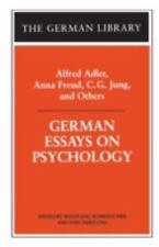 German Library: German Essays on Psychology Vol. 62 by Sven Nebelung (2000,.