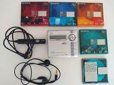 SONY MZ-N707 NET MiniDisc Recorder / Player +controller + earphones + MiniDiscs