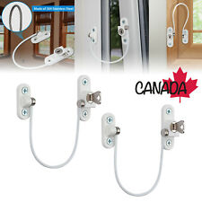 2X Window Door Restrictor Child Baby Safety Security Lock Jammer Sash Blocker