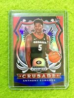 ANTHONY EDWARDS RED WHITE BLUE PRIZM ROOKIE CARD TIMBERWOLVES SP RC  2020 Panini