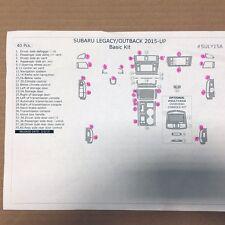 NEW Wood Grain Auto Interior Dash Trim Kit for Subaru Legacy / Outback 2015-2017
