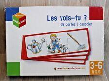 Jeu éducatif pour enfants de 3 à 6 ans - Les vois-tu? - 36 cartes à associer