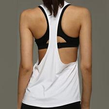 Women's Workout Tank Top T-shirt Sport Gym Clothes Fitness Yoga Tank Shirt Cool.