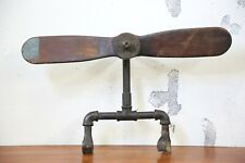 Vintage Airplane Drone Wood Propeller Aviation Industrial Fan Antique Old plane
