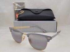 Ray Ban CLUBMASTER METAL (RB3716-9158AH 51) Gold Matte Grey w/ Grey Bi-Mir Lens