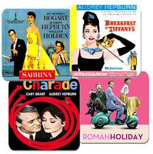 Audrey Hepburn Movie Film Poster Coasters Set Of 4. High Quality Cork. Breakfast