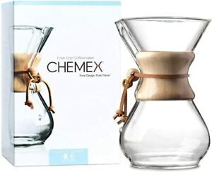 Chemex Pour-Over Glass Coffeemaker - Classic Series - 6-Cup - Exclusive Packagin