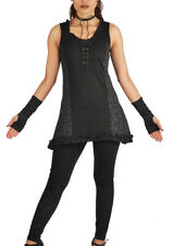 New Gothic Style Top with Lace Detail up to Plus Size