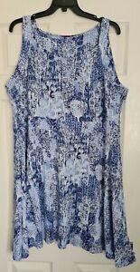 JOE BROWNS Floaty Patterned Summer Dress - Size 24 - Brand New