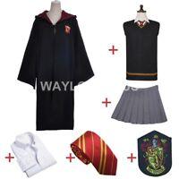 Hermione Granger Gryffindor Costume/Uniform/Cosplay/Robe/Cloak Set W Badge Tie
