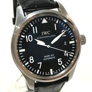 IWC IW325501 Mark XVI Date Mark 16 Men's Wristwatch Silver/Black