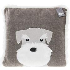 Scottie Dog Design Brown Bedroom Living Bed Sofa Soft Filled Cushion Pillow