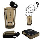 Retrattile Mini Clip auricolare cuffie In-Ear Bluetooth 4.0 Universale Stereo