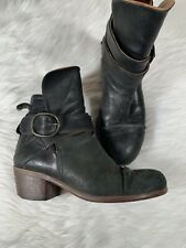P. Monjo Black Leather Booties Size 37 / US 7