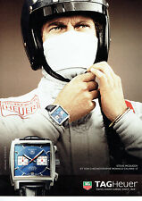 Publicité Advertising 078  2012   montre Tag Heuer calibre Monaco Steeve McQueen