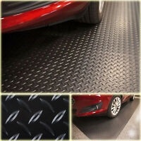 7.5 ft. x 14 ft. Diamond Black Universal Garage Flooring Trailer Mat Floor Cover