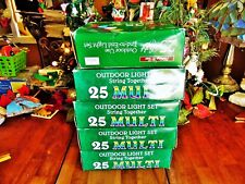 125 Multi New Other(old stock) Christmas Trim A Home C9 1/4 Outdoor Light Set 5