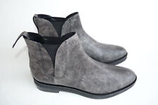 Alexander Wang Dewi Gray Leather Flat Ankle Boots EU 38.5 US 8.5 Booties