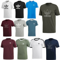 Adidas Originals Mens Trefoil 3 Stripe Crew Short Sleeve T Shirt S M L XL XXL
