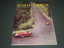 1958 FEBRUARY ROAD & TRACK MAGAZINE - GREAT COVER & PHOTOS - K 1016