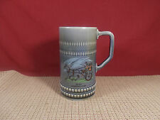 Irish Porcelian Beer Tankard/Stein  Irish Jaunting Car 6 1/2""