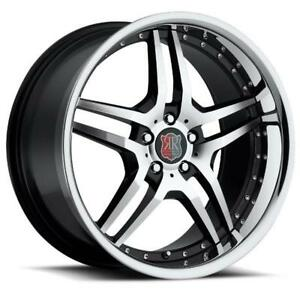 19x8.5/9.5 MRR RW2 5x112 +35/40 Back w/ Chrome Lip Wheels (Set of 4)