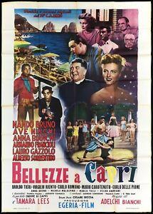BELLEZZE A CAPRI MANIFESTO FILM AVE NINCHI ART BY FIORENZI 1951 MOVIE POSTER 4F