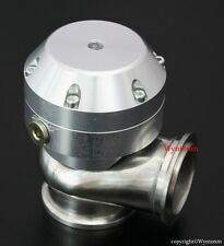 44MM 4 PSI Turbo V Band Stainless Steel Mini Wastegate Silver + 38mm 2 Bolts Adp