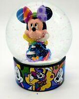 Romero Britto Disney Minnie Mouse Waterball/ Waterglobe/ Glass Snow Globe
