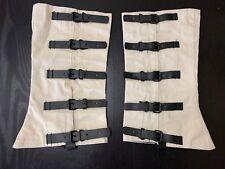 Civil War - White Canvas Leggings / Gaiters, NEW reproduction, SIZE X-Large