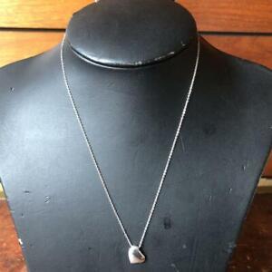 Tiffany & Co. Sterling Silver 925 Full Heart Peretti Pendant Necklace NO BOX / 3
