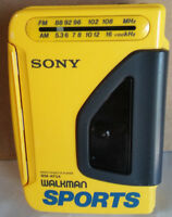 SONY Vintage Sports Walkman Stereo Cassette Player radio portable