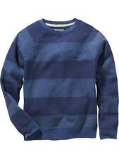 NWT Old Navy Boys Striped French-Rib Pullover XS (5) Navy Blue $22.94 Top