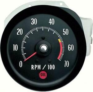 1971-72 Chevrolet Chevelle, Monte Carlo Tachometer 5500 RPM Red Line
