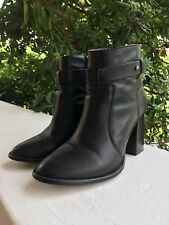 "Madewell Women's Black Leather Ankle Boots, Size 9 (US), 3.5"" Heel"