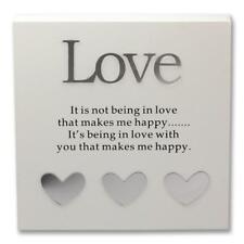 Said with Sentiment 7100-WT-LOV Wall Art Block Love